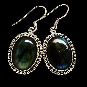 Labradorite 925 Sterling Silver Earrings 1 1/2
