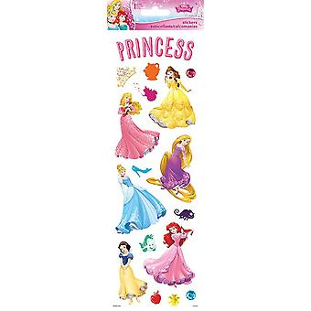 Clear Sticker - Disney Princess - Dreams w/ Glitter 5.5'' x 12'' Toys Gifts Stationery New pdcl176