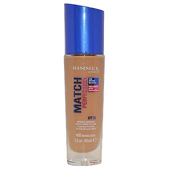Rimmel London Match Perfection Invisible Coverage Foundation 24hr 30ml Natural Beige #400