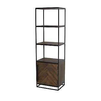 Light & Living Cabinet Half Open 55x40x180cm Chisa Wood Brown-Black