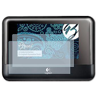 Bruni 2x näytönsuoja yhteensopiva Logitech Squeezebox Touch suojaava kalvo