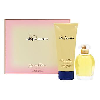 So de la Renta door Oscar de la Renta voor vrouwen 2 delige set bevat: 3,4 oz Eau de Toilette Spray + 6,7 oz Body lotion