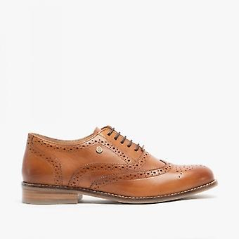 Hush Puppies Natalie Ladies Leather Brogue Shoes Tan