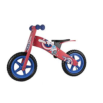 RICCO 12 Inch Wooden Balance Bike Red With Carry Handle Ages 3-6 Years