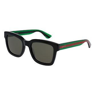 Gucci GG0001S 002 Black-Green/Green Sunglasses