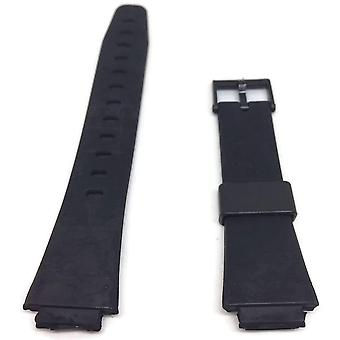 Watch strap made w&cp to fit casio 311a2, w90, w91 with black plastic buckle