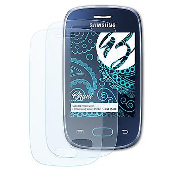 Bruni 2x Schutzfolie kompatibel mit Samsung Galaxy Pocket Neo GT-S5310 Folie