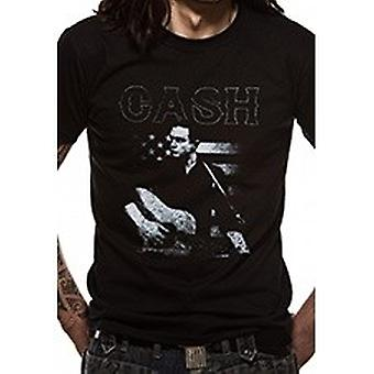 Johnny Cash Unisex Adults Guitar American Design T-shirt