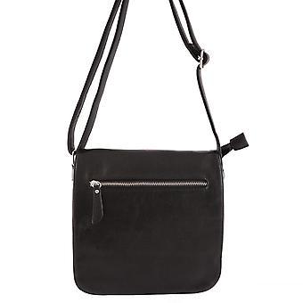 Skulderremtaske til dame, imiteret læder