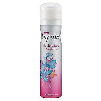 6 x Impuls Deodorant Body Spray 75Ml - überrascht sein