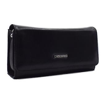 Peter Kaiser Lanelle Clutch Bag In Black Chevro
