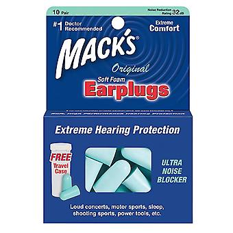 Mack's original soft foam earplugs, 10 pairs