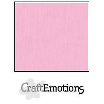 CraftEmotions linen cardboard 10 Sh pink 30,0x30,0cm / LC-38