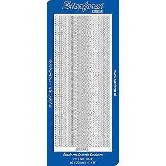 Starform Stickers Borders 11 (10 Sheets) - Silver - 1001.002 - 10X23CM