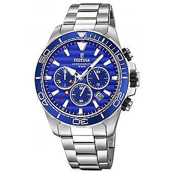 Titta på Festina Prestige F20361-2 - klocka kronograf stål mannen