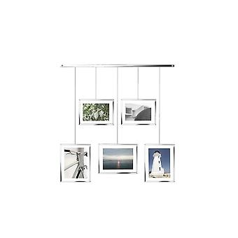 Umbra Exhibit verstelbare Multi Photo Display Frame - Chrome