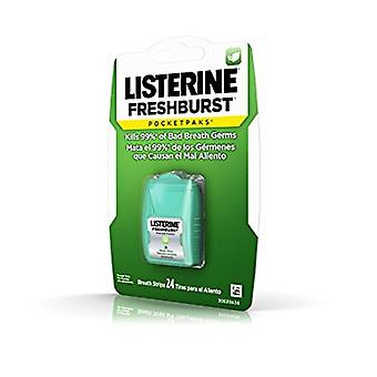 Listerine freshburst pocketpaks breath stips, 24 ea