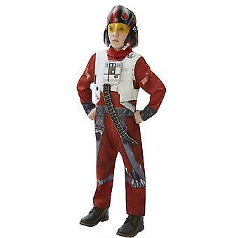 Star Wars Childrens/Kids Deluxe Poe X-Wing Fighter Costume