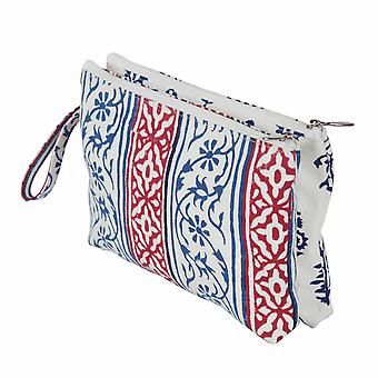 Radiance: Fabric Double Zipped Pouch: Small