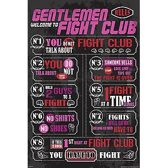 Fight Club Poster Rules  Die 8 Regeln des Fight Club.