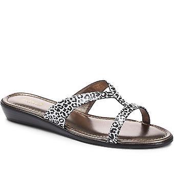 Jones Bootmaker Naisten Klevina Leopard Tulosta Muuli Sandaali