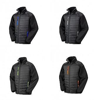 Result Mens Black Compass Padded Soft Shell Jacket
