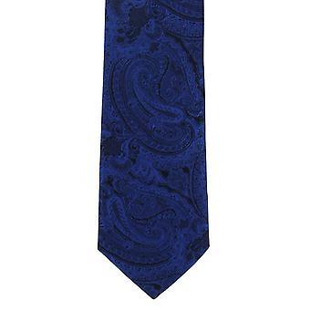 Michelsons di Londra moderna Paisley cravatta poliestere - blu