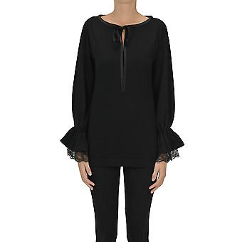 Alberta Ferretti Ezgl095042 Women's Black Wool Blouse