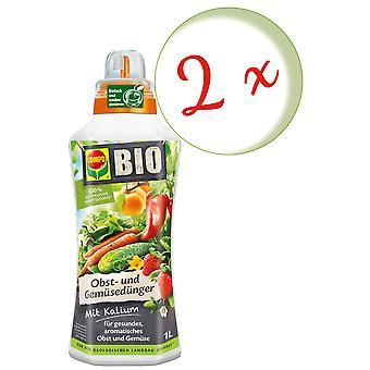 Disperso: 2 x COMPO ORGANIC fertilizante de frutas y verduras, 1 litro