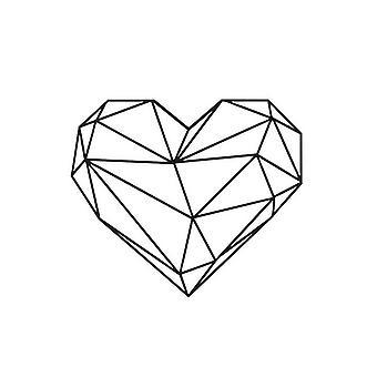 Decoração da Parede Cor de Coração Aço preto 47x0.15x40 cm