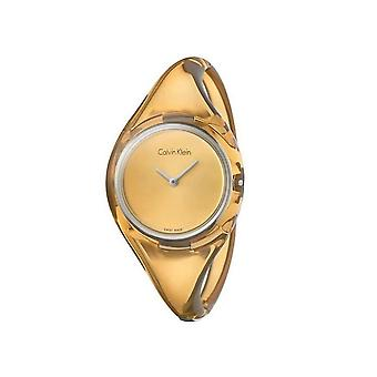 Calvin Klein K4W2SXF6 Pure Gold Dial Small Bangle Ladies Watch