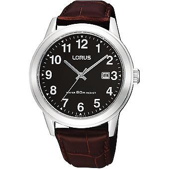 Lorus RH927BX-9 Brown Leather Strap Wristwatch