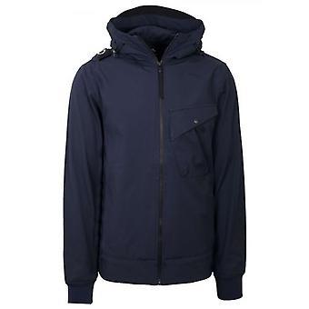 MA.STRUM Navy Softshell Hooded Jacket