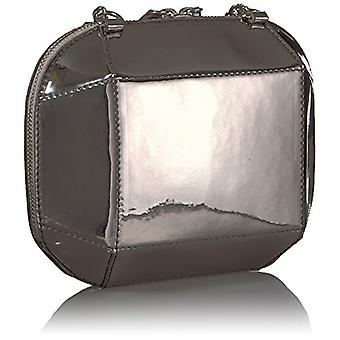 Brand - The Fix Tiffni Geometric Hard, Pewter Metallic, Size One Size