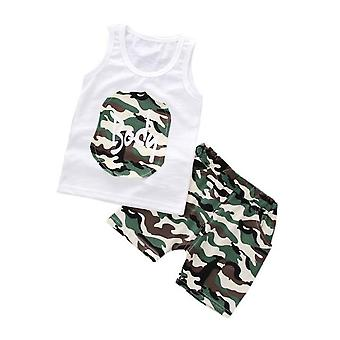 Baby Boys Fashion Camouflage Vest And Pants