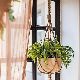 1pc Corda Canapa Macrame Pianta Fiore Hanging Pot Holder Basket