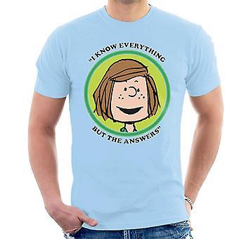 Jordnötter Peppermint Patty Badge mäns T-shirt
