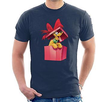 Disney Pluto Christmas Present Men-apos;s T-Shirt