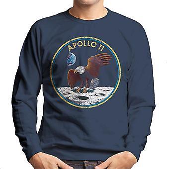 NASA Apollo 11 Mission Badge Distressed Men's Sweatshirt
