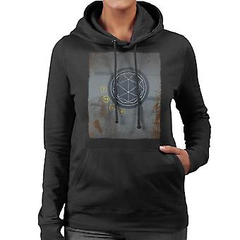 The Crystal Maze Rust Panel Women's Hooded Sweatshirt