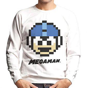 Mega Man Pixel Face Men's Sweatshirt