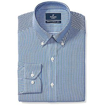 BUTTONED DOWN Men's Tailored Fit Button-Collar Pattern Non-Iron Dress Shirt, ...