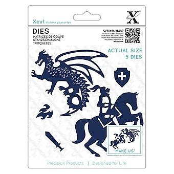 Xcut Dies Knight & Dragon (5st) (XCU 503343)
