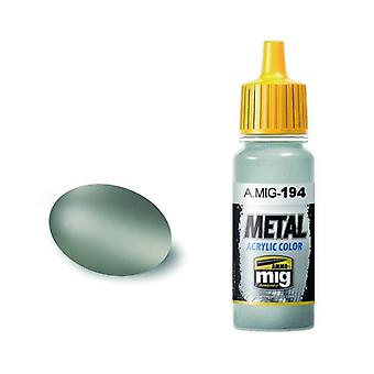Ammo by Mig Acrylic Metallic Paint - A.MIG-0194 Matt Aluminium (17ml)