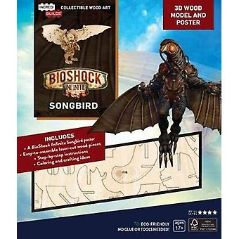 IncrediBuilds BioShock Infinite Songbird 3D Wood Model and Poster by Insight Editions