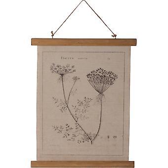 Plaque de mur primitives par Kathy Queen Annes lacet toile botanique 19,5 pouces