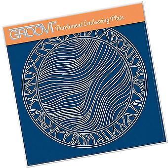Groovi Fairy Background Round A5 Square Plate