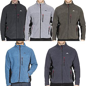 Trespass Mens Jynx Caminhada ao ar livre Zip Up Warm Winter Fleece Jacket