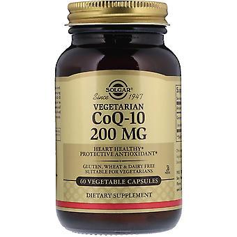 Solgar, Végétarien CoQ-10, 200 mg, 60 Capsules végétales