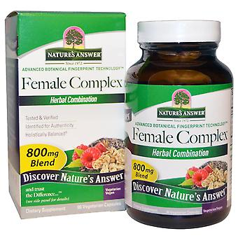 Nature's Answer, Female Complex, Herbal Combination, 800 mg, 90 Vegetarian Capsu